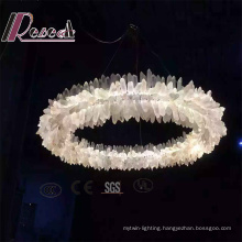 One Round Stone Crystal Pendant Lamp for Hotel Project